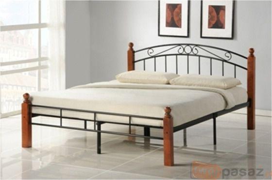 Łóżko łoże metalowe podwójne małżeńskie 140x200 + stelaż HSU_548
