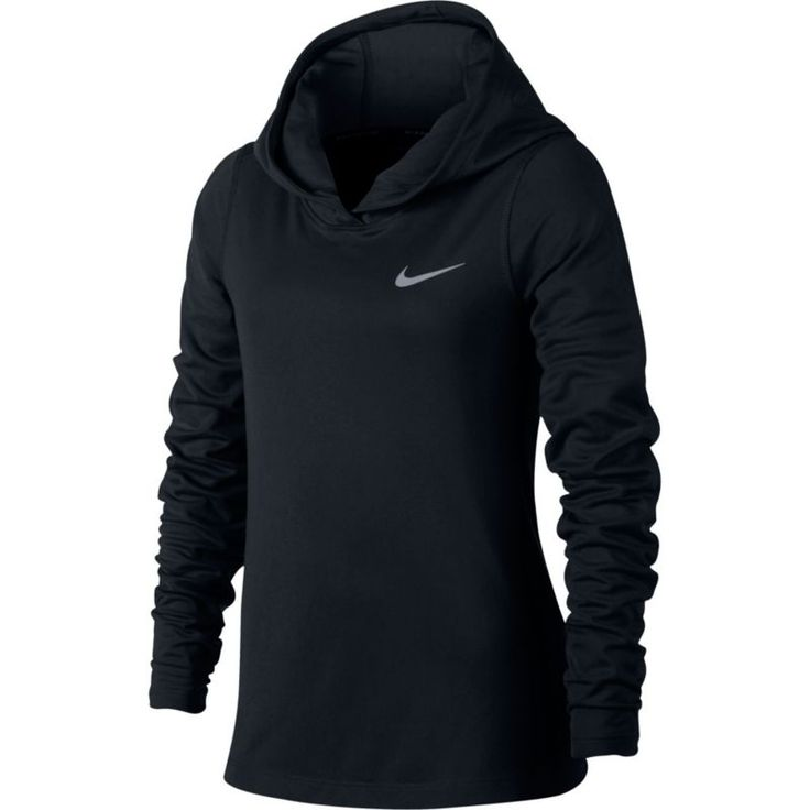 Nike Girls' Running Hoodie, Size: Small, Black