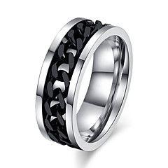 Inele+Nuntă+/+Petrecere+/+Zilnic+/+Casual+/+Sport+/+N/A+Bijuterii+Oțel+titan+Bărbați+Inele+Afirmatoare+1+buc,7+/+8+/+9+/+10+/+11+/+12+–+EUR+€+11.76