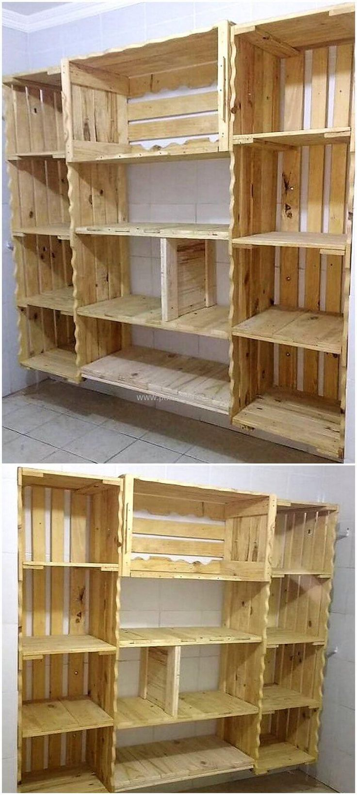 pallet fruit crates made shelving wardrobe