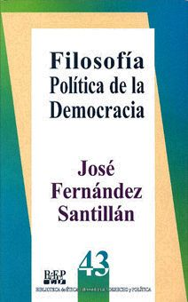 FILOSOFÍA POLÍTICA DE LA DEMOCRACIA José Fernández Santillán/ISBN 968-476-230-5 Este libro es un estudio de la democracia desde la perspectiva de la filosofía política en el ámbito de la llamada escuela de Turín. El concepto de democracia se relaciona con algunas corrientes modernas y contemporáneas como el liberalismo y el socialismo.