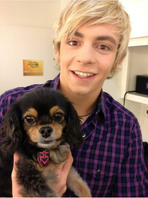 Photo of Ross Lynch & his  Dog Pixie