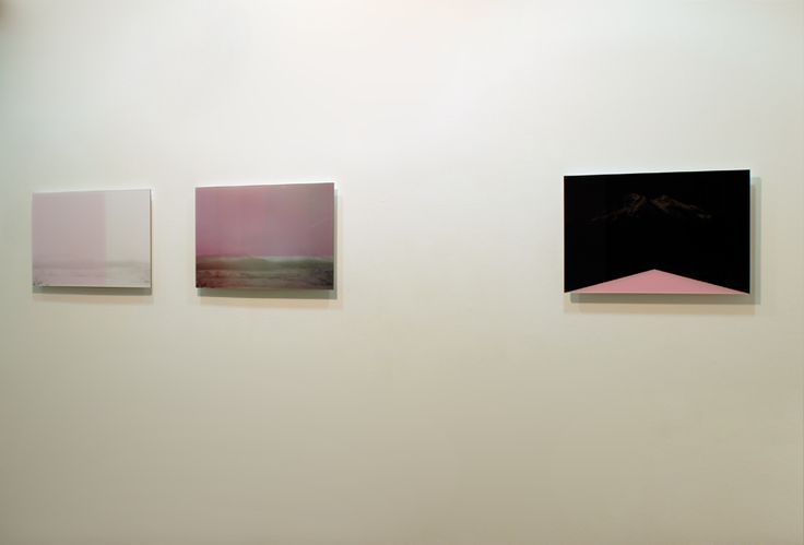 View of the exhibition Paperworks III. Landscape without Landscape, with works by Marta Alvim, from the series Screenshots, 2015