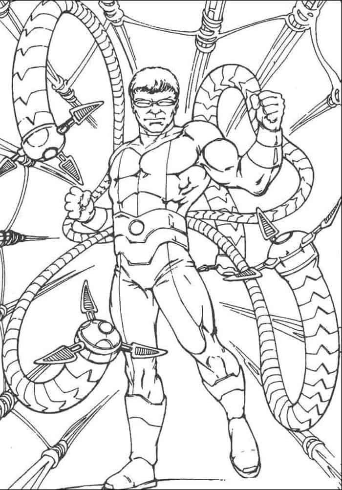 Dr Octopus Coloring Pages Spiderman Coloring Octopus Coloring Page Cartoon Coloring Pages