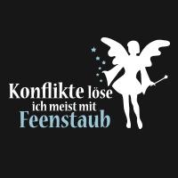 Konflikte löse ich meist mit Feenstaub: http://www.t-shirt-mit-druck.de/fee-t-shirt-gestalten.htm