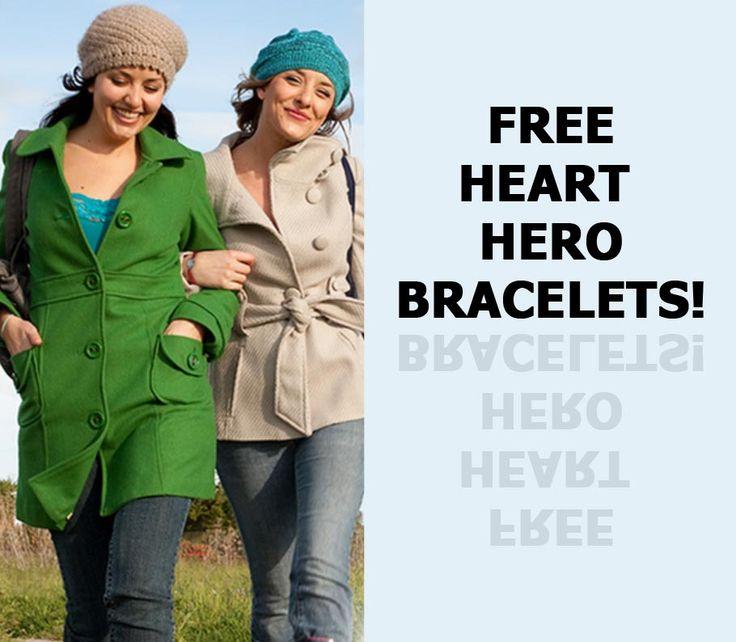 FREE HEART HEROS BRACELETS!
