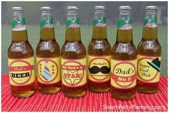 Retro Beer Labels For Dad - Smart Party Planning