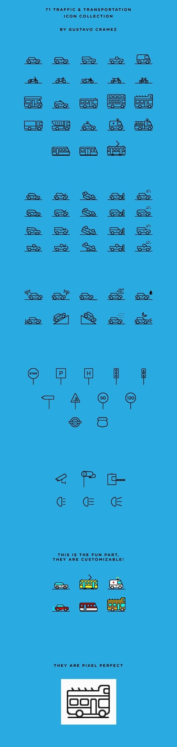 71 Traffic & Transportation Icon Collection | Free on Behance in PIctogram