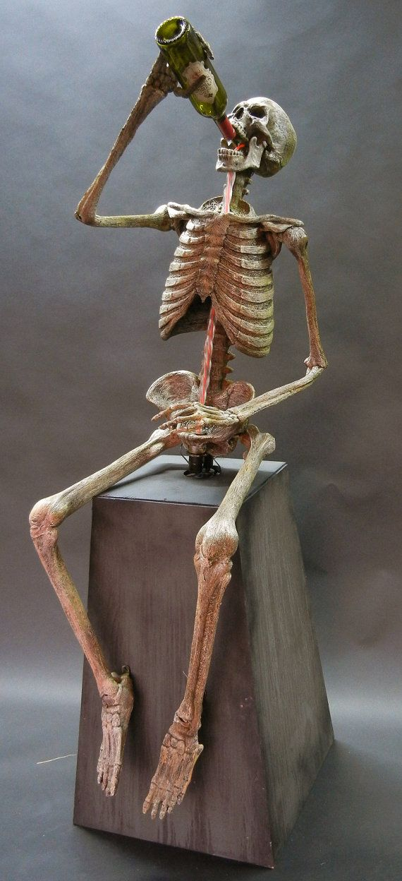 Drinking Skeleton Tipsy Animation Animated Halloween by DCProps