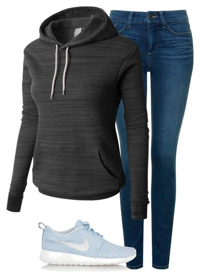 Untitled #126 by mon-holopainen on Polyvore featuring moda, LE3NO, NYDJ and NIKE