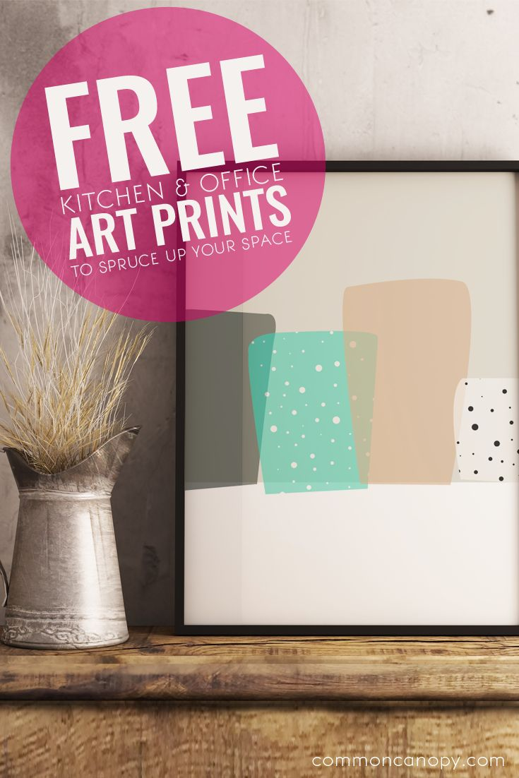 Free Kitchen & Office Art Prints to Spruce Up Your Space| CommonCanopy.com
