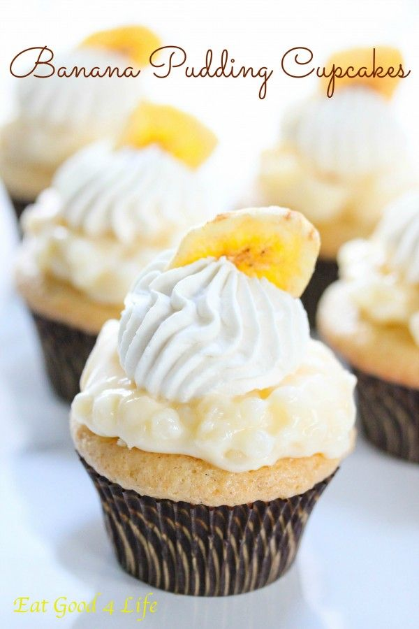 Gluten free Banana pudding cupcakes