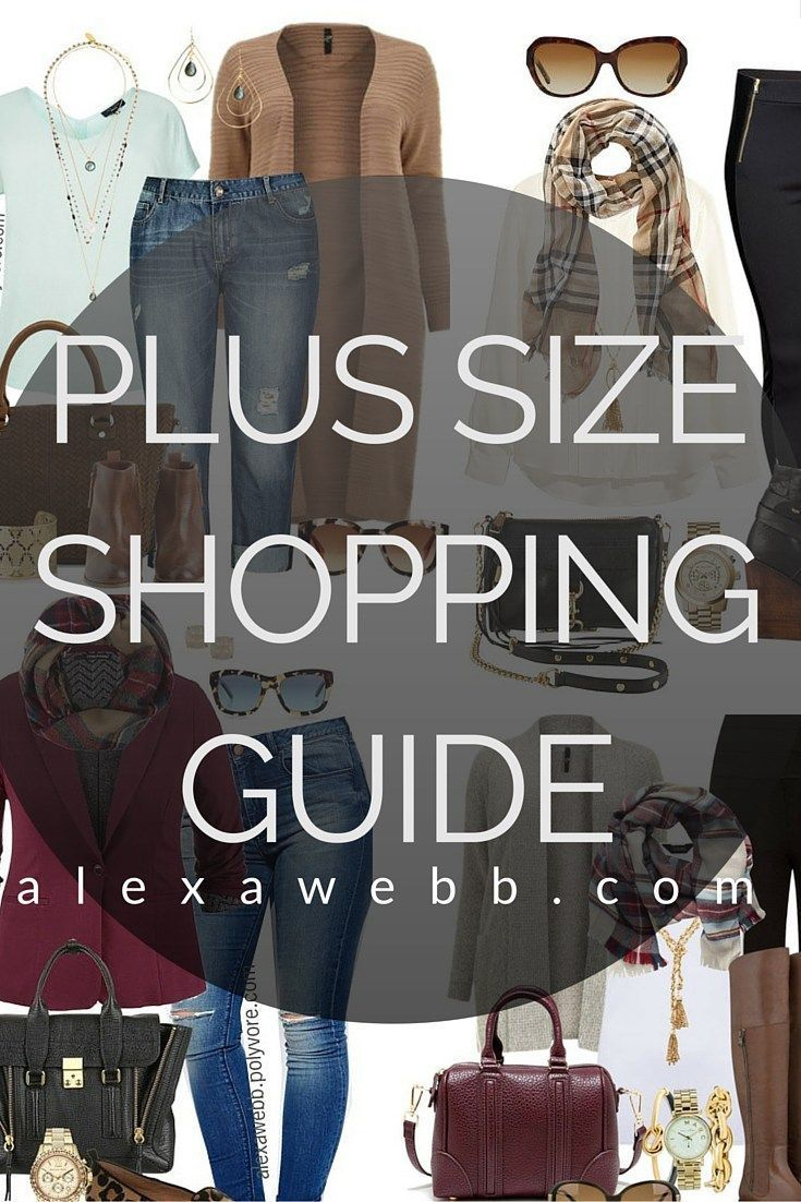 Plus Size Shopping Guide - The Best Plus Size Shopping Resource - Where to Shop - alexawebb.com #alexawebb