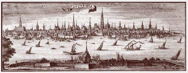 Gezicht op Antwerpen 1708 Harrewijn