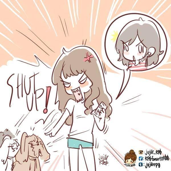 Sooyoung'un Sunny'nin radyo programına bağlandığı sırada köpeklerine bağırmasının fanartını yapmışlar.  Evet cümle çok karışık biliyorum  Hala izlemeyeniniz varsa programı Türkçe altyazılı izleyebilirsiniz: http://www.youtube.com/watch?v=G6Um_zaE45c&feature=youtu.be