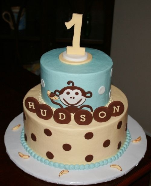 Husdon's First Birthday Monkey Cake