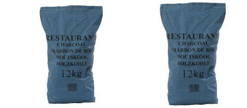 2 x 12kg Premium Grade Restaurant Lumpwood Charcoal- Ideal for catering use or for larger barbecues.