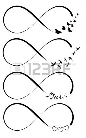 Infinity symbols Stock Vector