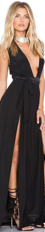 OLCAY GULSEN SU2C X REVOLVE Double Slit Maxi Dress | LOLO❤︎