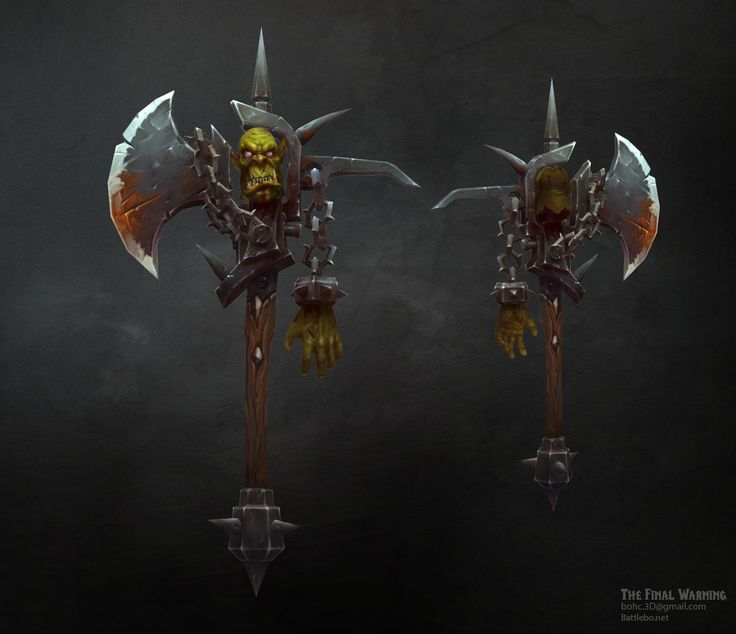 ArtStation - Weapon - The Last Warning, Bo Hsuan Chang