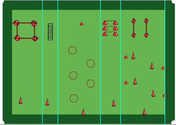 Entrenamiento De Fútbol Juego Correctivo Apoyos Constantes Entrenamiento Futbol Ejercicios De Fútbol Entrenamiento