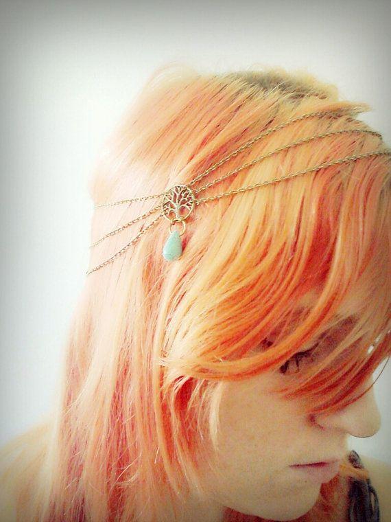 Tree of life  Boho Chain Headpiece Hairband Bohemian Bronze by BeUniqueJewellery, £11.00