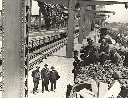First Train on Sydney Harbour Bridge