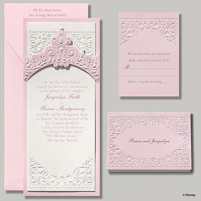 Disney Princess Pink Wedding Invitations by Carlson Craft!  Click pic to order!