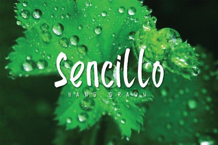 Sencillo Hand Drawn By Atjcloth Studio