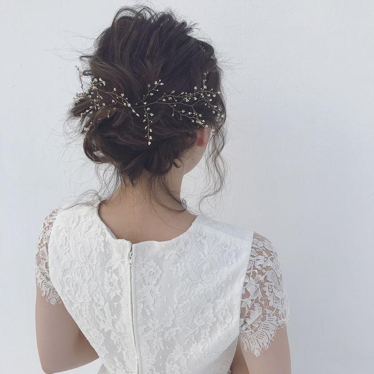 * hair arrange♡ * @arisa_uchiyama thanks♡ * ゼクシィアプリの撮影をさせていただきました♀️ @zexyrecruit  * * #かねこアレンジ #ヘアアレンジ #ゼクシィ #プレ花嫁 #ブライダルヘア
