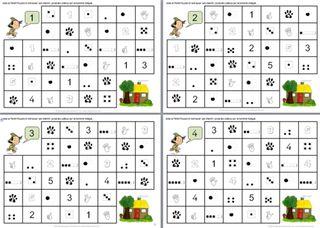 Les nombres de 1 à 5: les chemins des nombres du Petit Pouce... | lilipomme | Bloglovin'