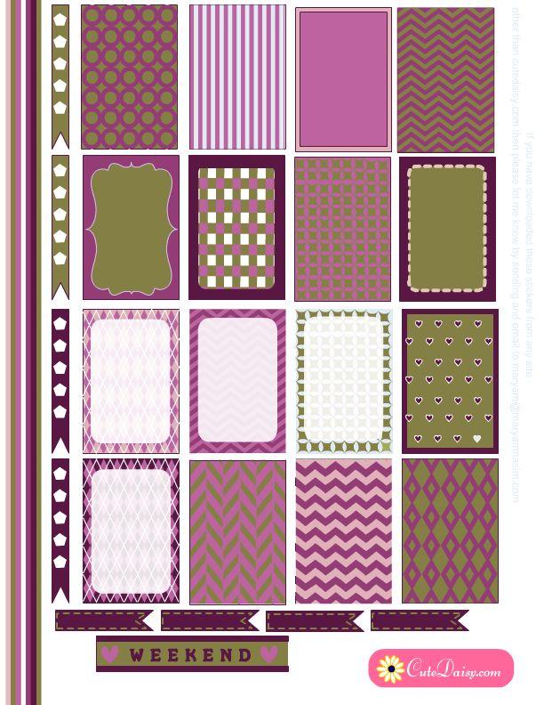 Happy Planner Stickers | Free Planner Printables | Pinterest | Planner ...