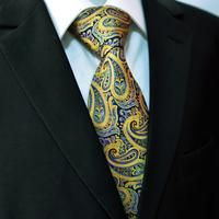 Yellow and Blue Paisley Tie
