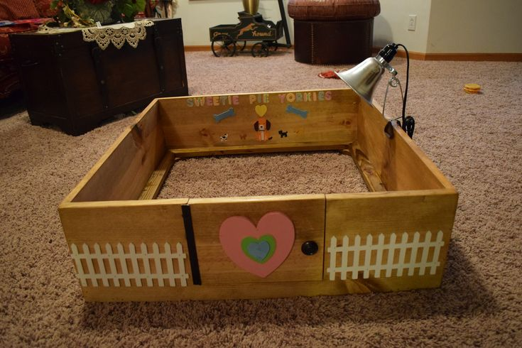 Breeding, DIY, Homemade, Dogs, Whelping, birthing, Box, puppies, cute, make your own, Yorkies, Yorkshire terrier, pregnancy