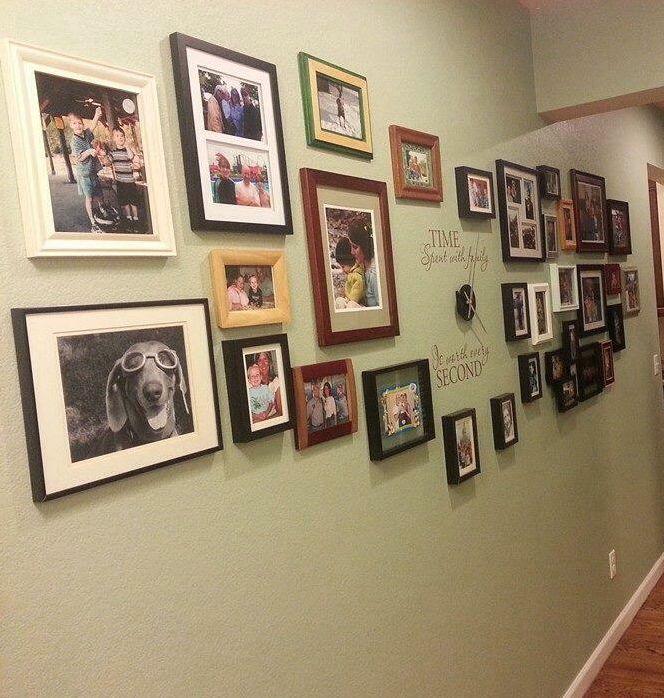 The Perfect DIY Family Photo Wall Clock