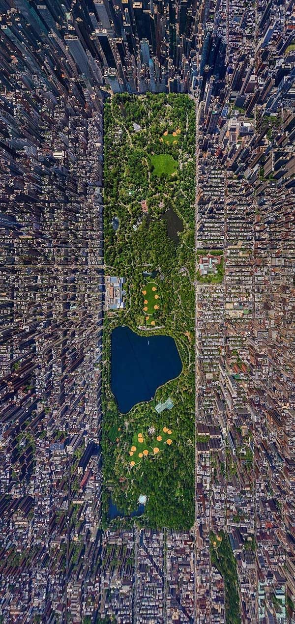 Central Park, NYC from Above