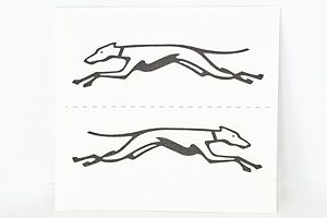 Greyhound Store Set of 15 Temporary Tattoos