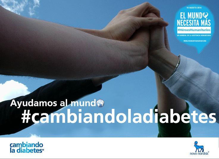 Hoy 19 de agosto, en el día Mundial de la Asistencia Humanitaria, recordamos a todos aquellos que trabajan para ofrecer un mundo mejor a personas que viven con #diabetes.  #HUMANITARIANHEROES #HéroesHumanitarios #cambiandoladiabetes