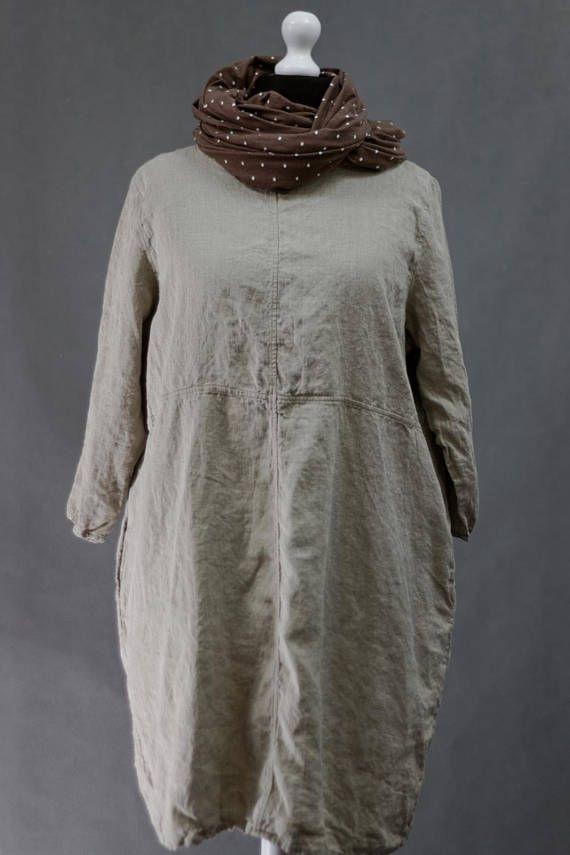 Natural linen tunic linen shirt women linen clothing loose