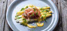 Kokte hvite asparges med skinke og Hollandaise | Lises blogg