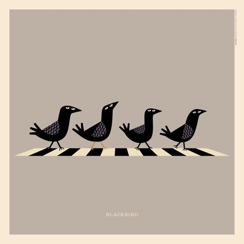 """The #Beatles' """"Blackbird""""   An Illustrated Guide To Every Animal In Rock Music   Co.Design   business + design"""