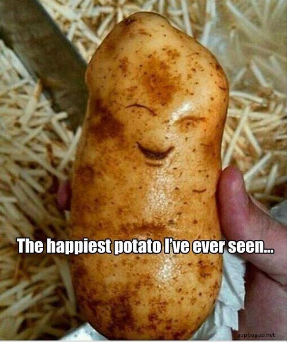 Funny Picture Of Happy Potato