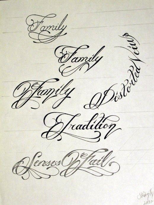 Tattoo Script -- I'm a fan of the curvy lines around it