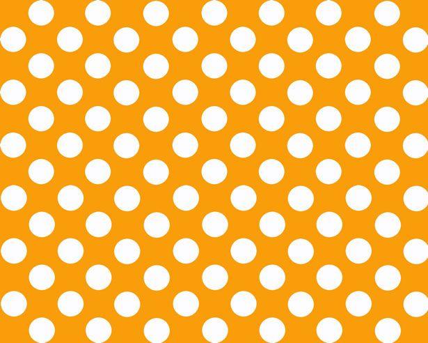 Orange Polka Dot Background