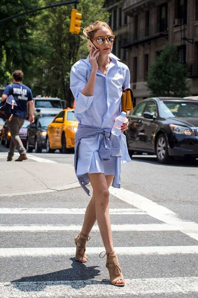 15 Street Style Looks That Will Urge You to Wear a Shirtdress 8