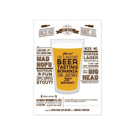 PRINTABLE Beer Tasting Party invitation by JacksMaster on Etsy, $15.20