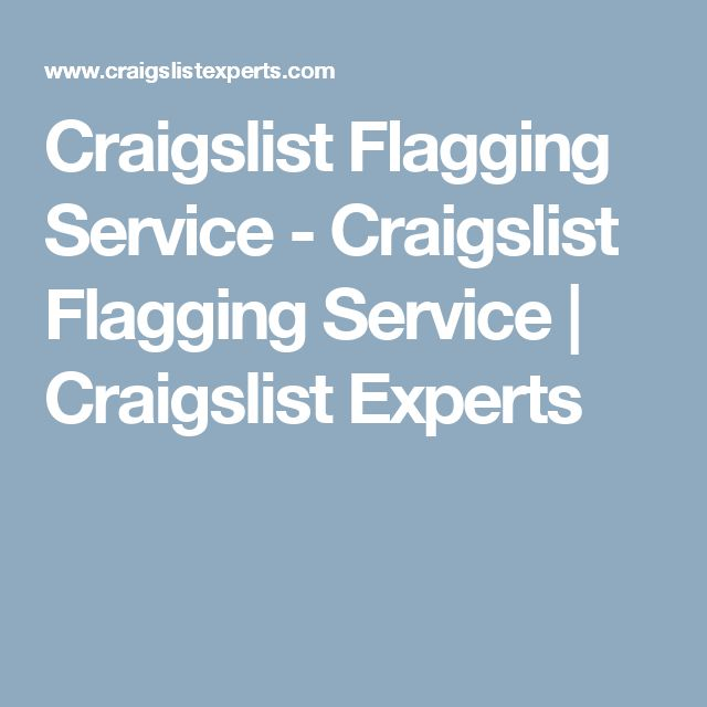 Craigslist Flagging Service - Craigslist Flagging Service | Craigslist Experts