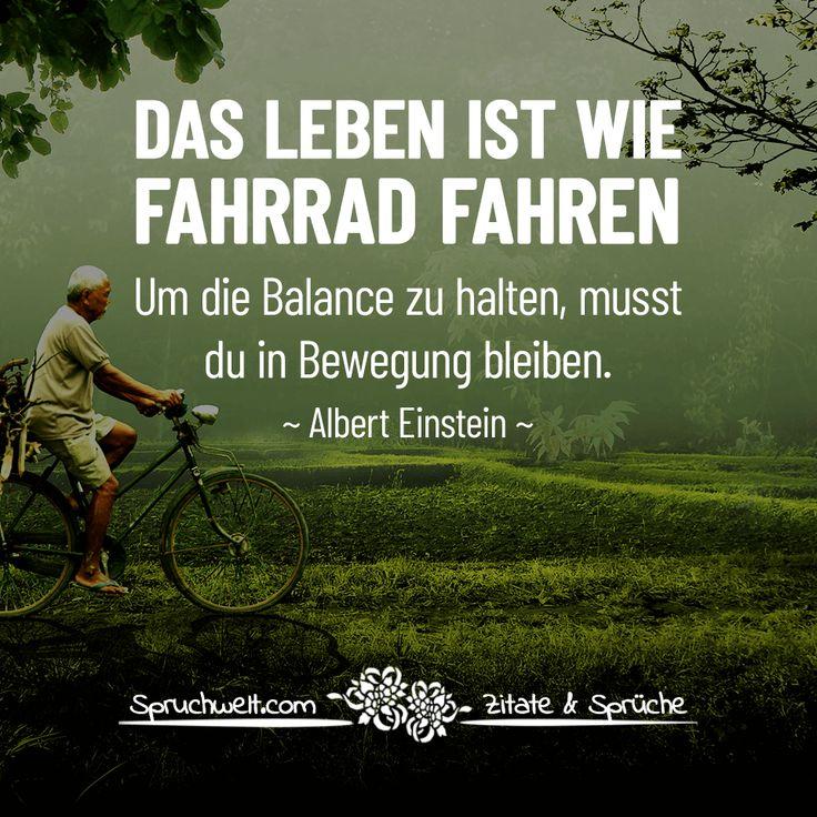Das Leben ist wie Fahrrad fahren, um die Balance zu halten