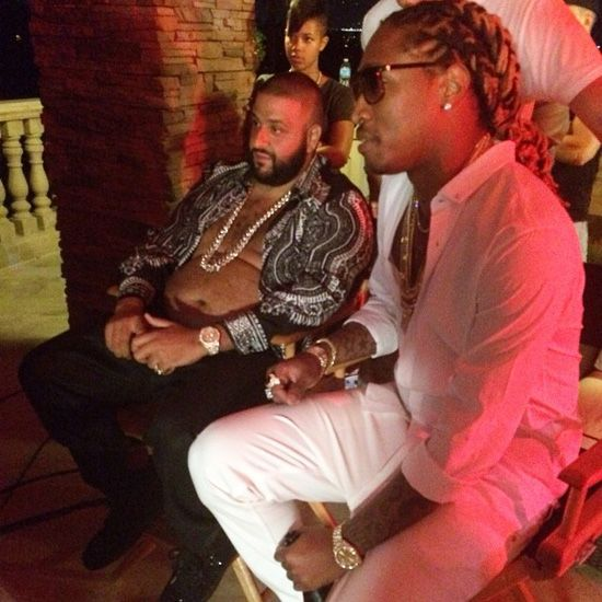 DJ Khaled Shoots A Music Video With Future, Chris Brown, August Alsina & Jeremih