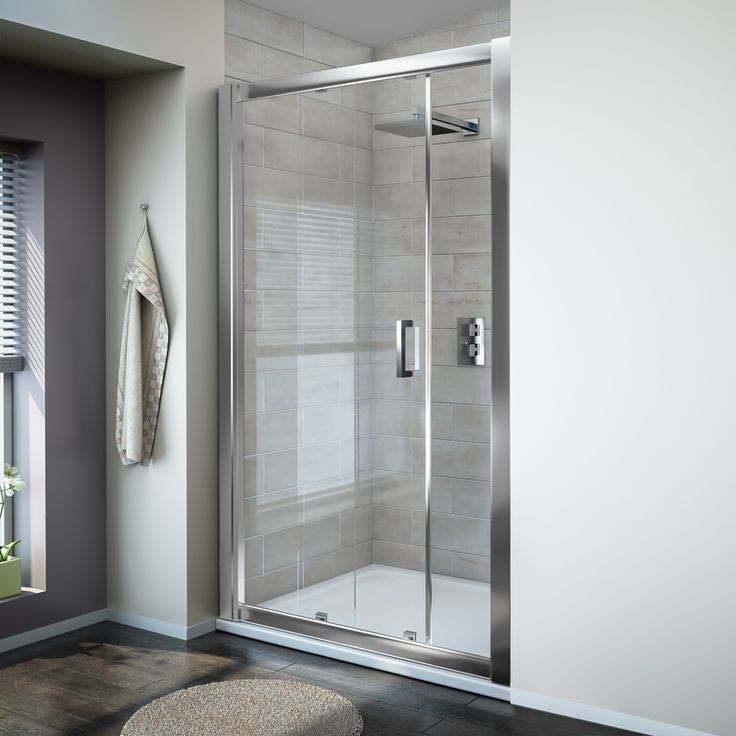 turin 8mm sliding shower door easy fit profile large image view 1